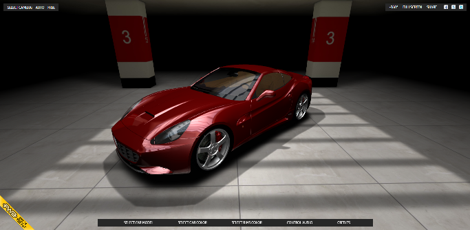 HTML5 webgl 3d car viewer visualizer three.js